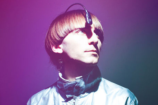 Cyborg Neil Harbisson with his antenna implant
